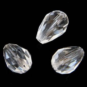 Beads, Selenial Crystal, Crystal, Clear colour , Faceted Teardrops, 8mm x 12mm, 1 Bead, [ZZS0016]